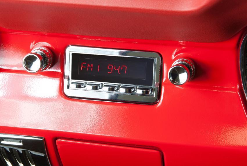 Retro sound model two in dash radio kit 1964 66 falcon for Classic 405 motors mustang ok