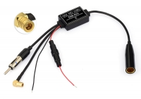 AMPLIFIED AM/FM TO DAB ANTENNA ADAPTER SPLITTER